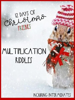 3 Winter Multiplication Riddles - 12 Days of Christmas Freebies - Day 5