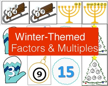 3 Winter-Themed Factor & Multiples Sorts