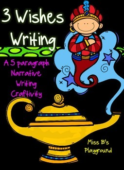 3 Wishes Genie Writing and Craftivity