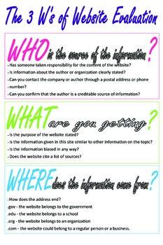 3 W's of Website Evaluation