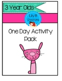 3 Year Old Activity Pack - Bunny Theme