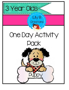 3 Year Old Activity Pack - Puppy Theme