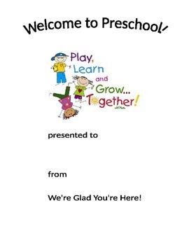 Welcome to Preschool