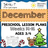 3 Year Old Preschool DECEMBER Lesson Plans (Weeks 14-16)