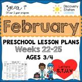 3 Year Old Preschool FEBRUARY Lesson Plans
