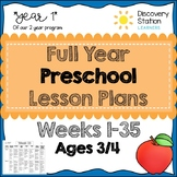 3 Year Old Preschool FULL YEAR (35 weeks) Lesson Plans
