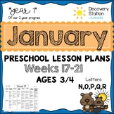 3 Year Old Preschool JANUARY Lesson Plans