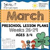 3 Year Old Preschool MARCH Lesson Plans