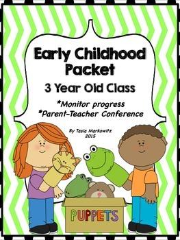 3 Year Old Preschool Parent-Teacher Packet