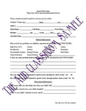 3 Year Reevaluation Student Information Form