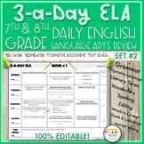 3-a-Day ELA {SET 2}-English Language Arts Review