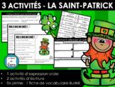 3 activités - La Saint- Patrick - Oral et écrit