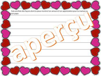 3 activités d'écriture créative - La Saint-Valentin - FRENCH FSL