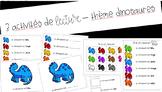 3 activités de lecture – dinosaures // 3 FRENCH reading ac
