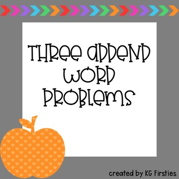 3 addend word problems