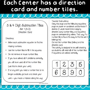 3 and 4 Digit Addition and Subtraction BUNDLE