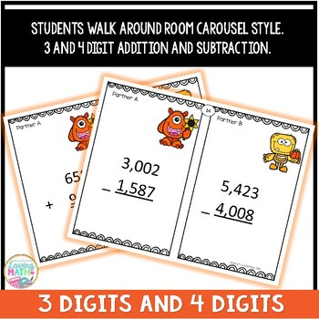 3 and 4 Digit Addition and Subtraction Game