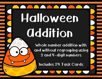 3 and 4 Digit Additon {Halloween}