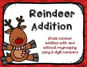3 and 4 Digit Additon with and without Regrouping {Christmas Theme}