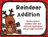 3 and 4 Digit Additon with and without Regrouping {Christm