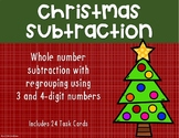 3 and 4 Digit Subtraction with Regrouping {Christmas}