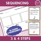 3 and 4 Step Sequencing Activity for Speech Therapy