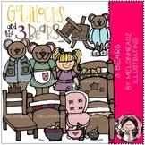 3 Bears clip art - Combo Pack - Melonheadz Illustrating