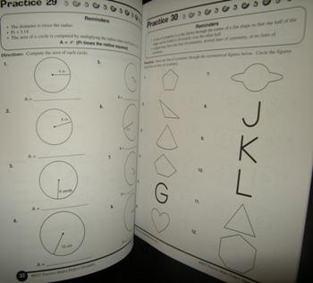 3 books Language Arts and Math for GRADE 5