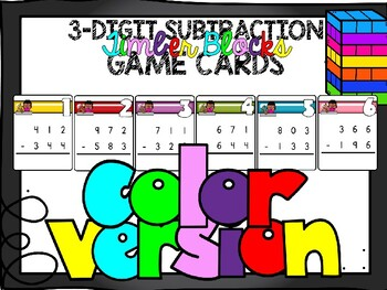 3 by 3 Subtraction Timber Blocks (Jenga Based OR Board Based Games