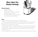 3 color pen reading strategy