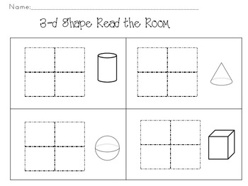 3-d Shape-Read the Room Activity