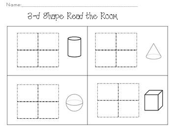 3-d Shape-Read the Room Activity