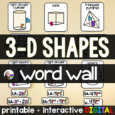 3-d Shapes Word Wall