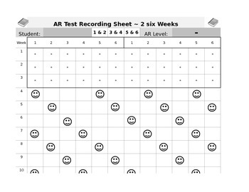 3 different AR Recording Sheets - Editable
