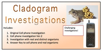 3 different cladogram investigations into 1 set - includes cell phone evolution