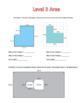 Finding Area: Leveled Worksheets
