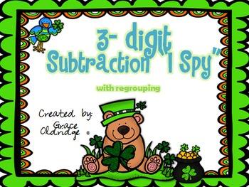 """3-digit Subtraction """"I Spy"""" Game"""