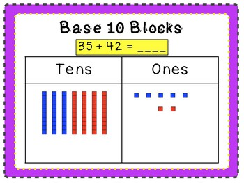 3-digit Addition and Subtraction with Base Ten Blocks