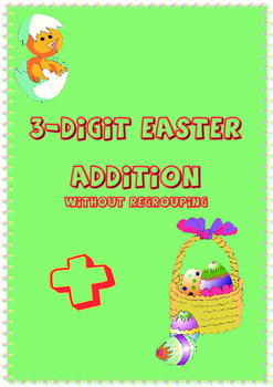 3-digit Easter Addition without Regrouping