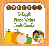 3-digit Place Value Task Cards - Pumpkin Theme