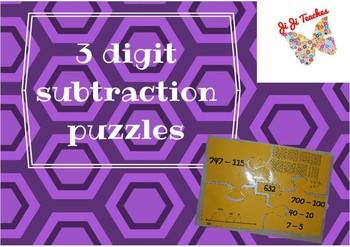 3 digit Subtraction Puzzle