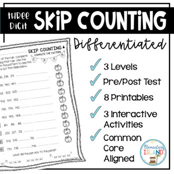 3-digit Skip Counting - Differentiated