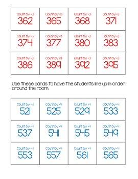 Skip Counting Worksheets 3-digit