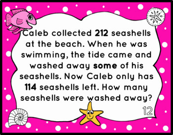 3-digit Subtraction Word Problems with Regrouping- Change Unknown