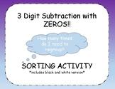 3-digit Subtraction with Zeros