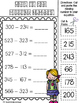 3 digit Subtraction with regrouping -Cut and Paste Activities