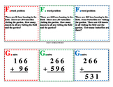 3-digit addition and subtraction differentiated scoot
