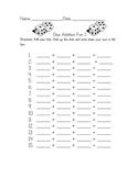 3 digit addition dice worksheet
