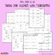3 Digit Addition Practice Worksheets, Missing Addends Center Activity Sheets
