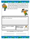 3 digit addition/subtraction story problems Winter theme 3